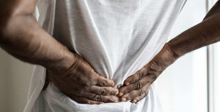 A man suffering sciatica symptoms